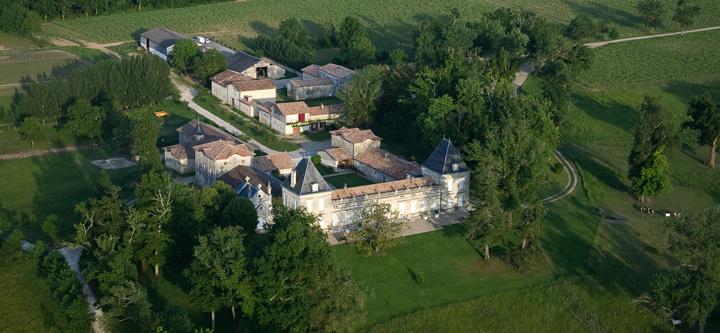 Château Malfard sa situation